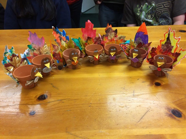 Flower Pot Turkeys for Thanksgiving 1