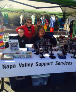 NVSS manning the booth at the Napa Farmers Market